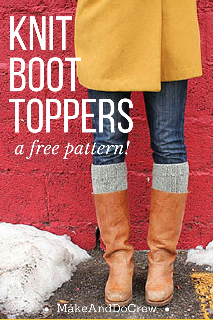 Tutorial knit boot topper pattern makeanddocrew pattern for easy knit boot toppers dt1010fo