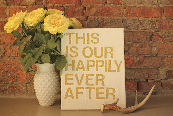 diy wall art using inspirational quotes