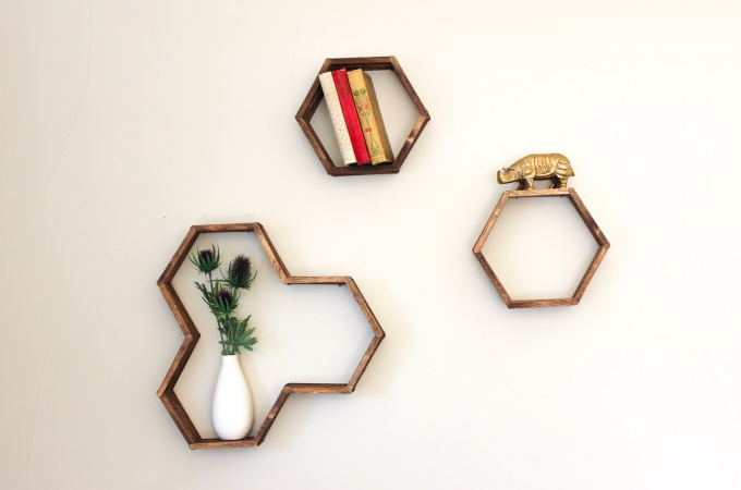 DIY Honeycomb Shelves (From Popsicle Sticks!) Pt. II