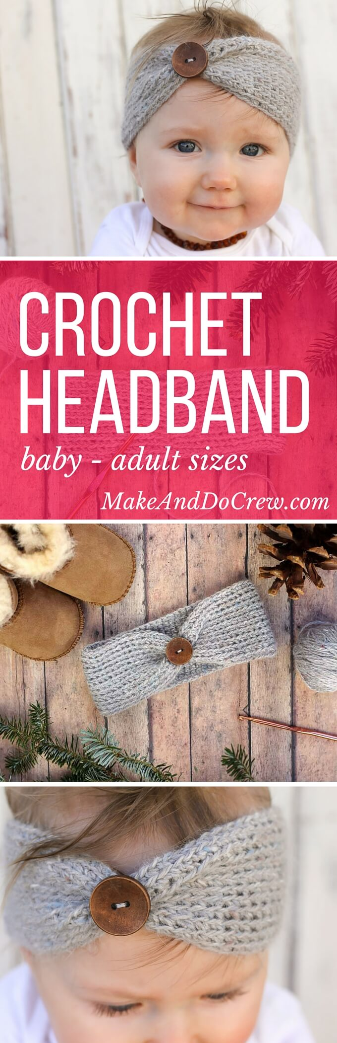 Free crochet headband pattern! This