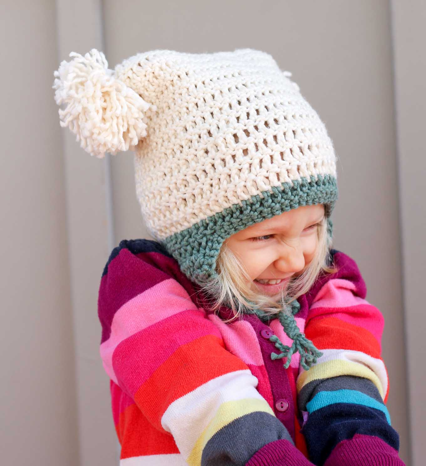 Free Crochet Pattern For Child Slouch Hat : Free Beginner Crochet Beanie Hat Pattern