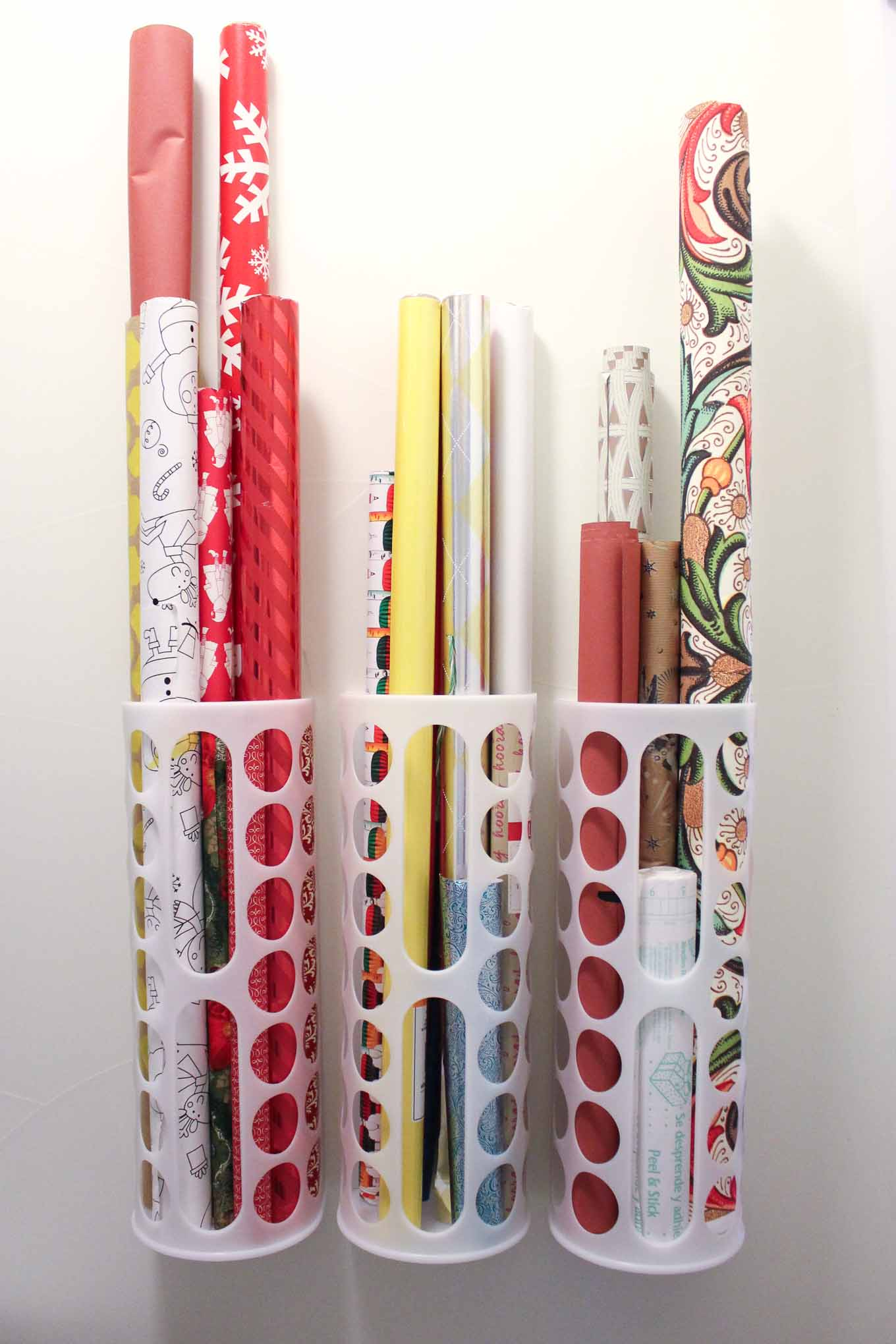 Superb Create This Simple DIY Wrapping Paper Storage Idea Using Ikeau0027s Variera  Plastic Bag Dispensers. Get