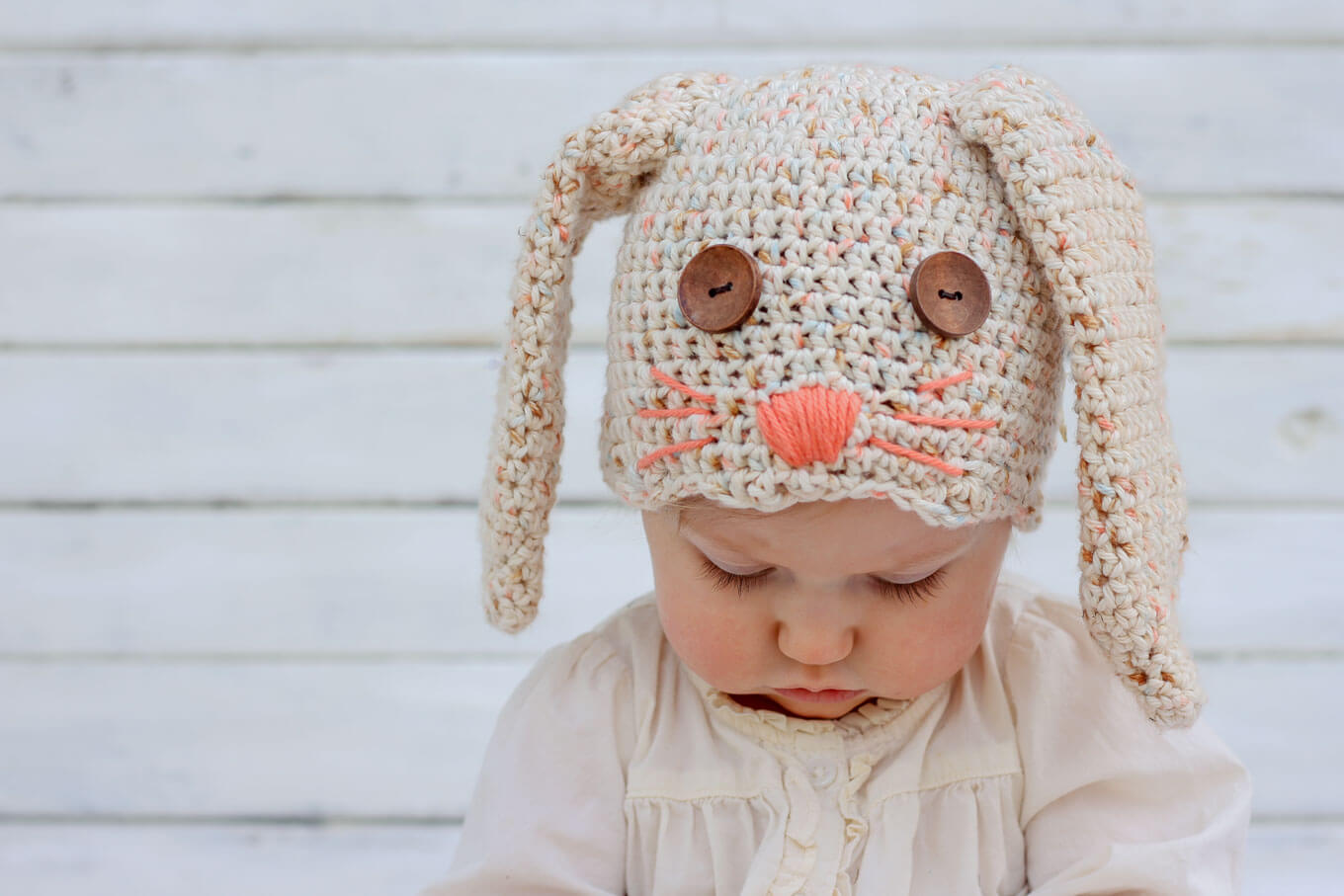 Free Crochet Bunny Hat Pattern (Newborn-Toddler) - Make & Do Crew