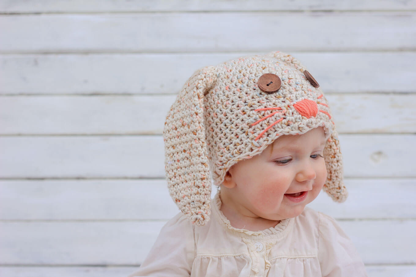 e30c288130c This free crochet bunny hat pattern makes a darling DIY Easter gift for  your favorite baby