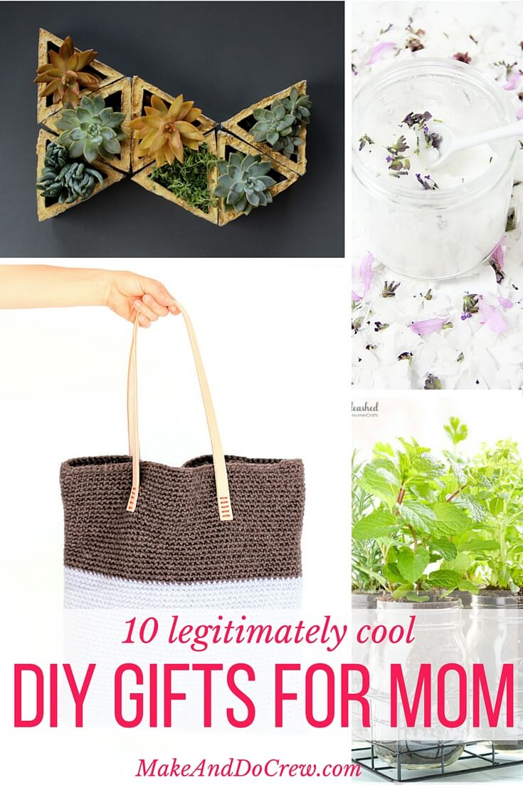 10 simple and modern diy gift ideas for cool moms Christmas ideas for mothers