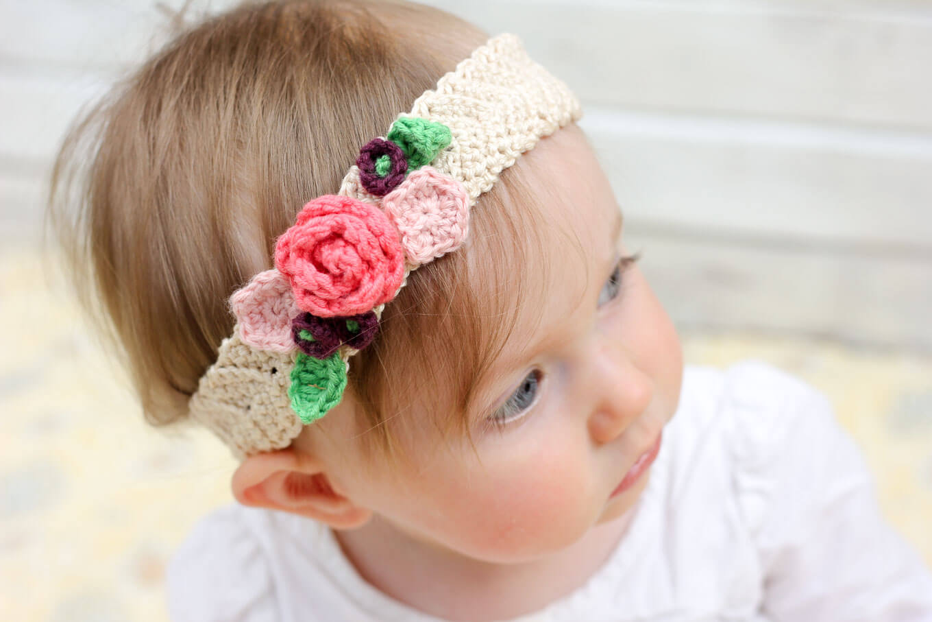 Free Crochet Pattern Flowers Headbands : Pics Photos - Crochet Baby Headbands Instructions All ...