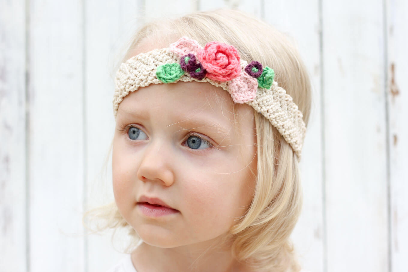 Crochet Wide Headband With Flower Free Pattern : Free Crochet Flower Headband Pattern (Baby, Toddler, Adult)