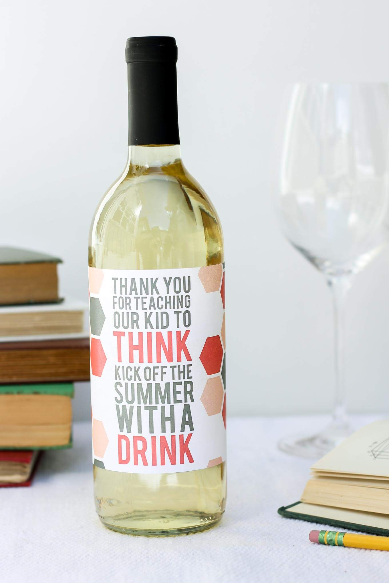 Printable Teacher Appreciation Wine Bottle Label. What Better Way To Say    Free Wine Bottle Label Templates