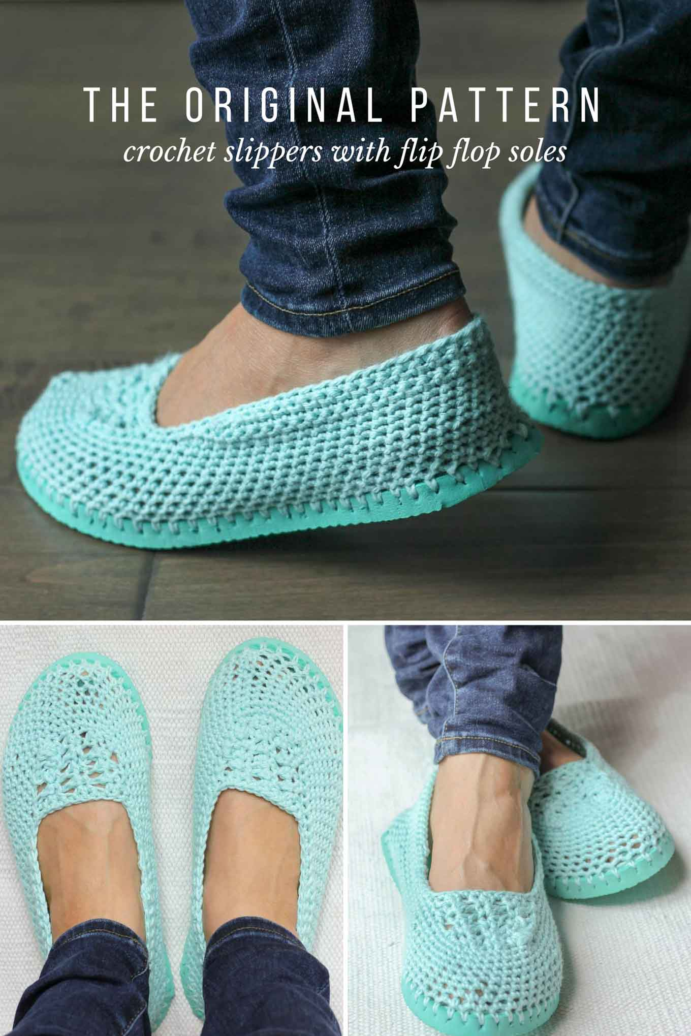 Crochet Slippers With Flip Flop Soles Free Pattern Video Tutorial