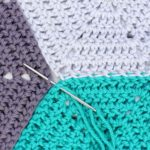 Invisible Seams: How To Join Crochet Hexagons
