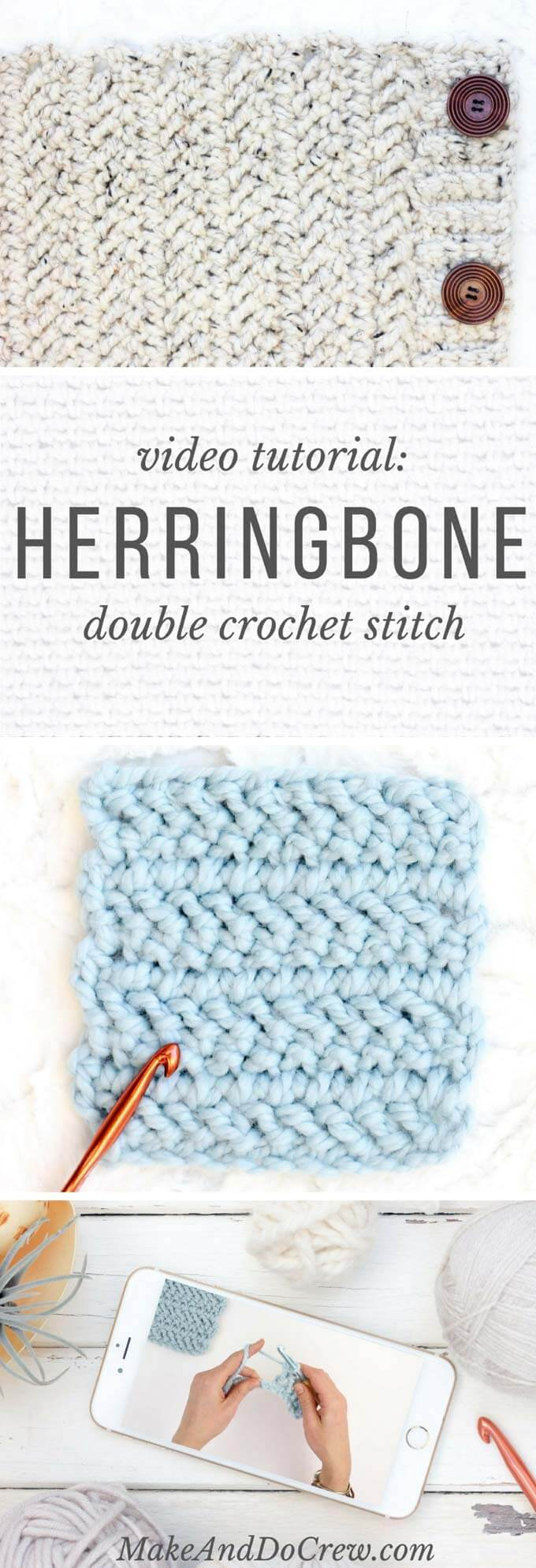 Video how to crochet the herringbone double crochet stitch learn how to crochet the herringbone double crochet stitch in this video tutorial a great pooptronica