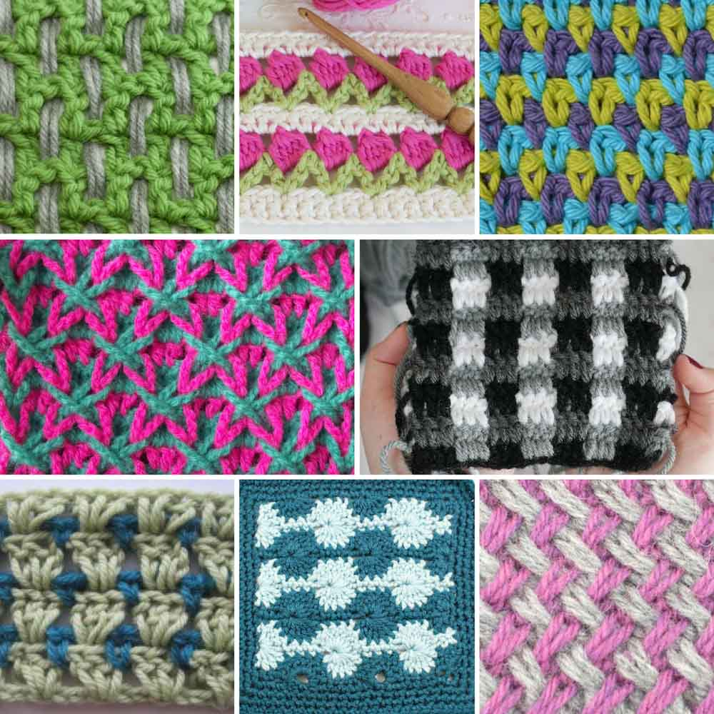Crochet Multiple Colors : 20+ Multi-Color Crochet Stitch Tutorials - Make and Do Crew