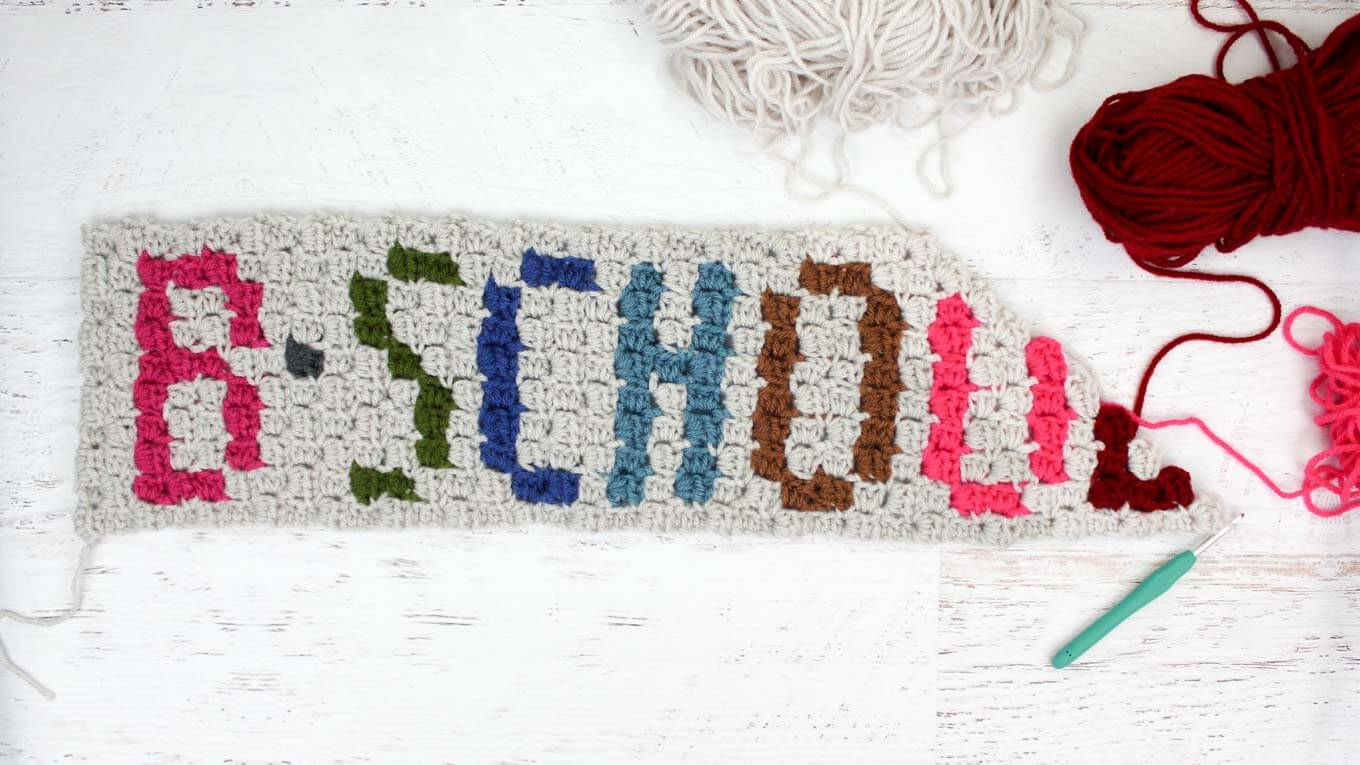How to crochet letters with corner to corner crochet.