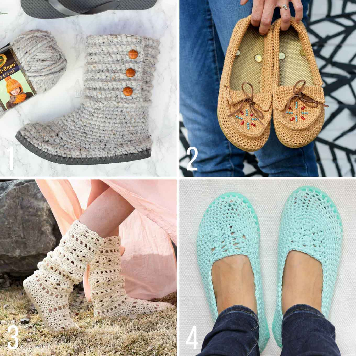 Free crochet patterns with flip flops soles from Make and Do Crew