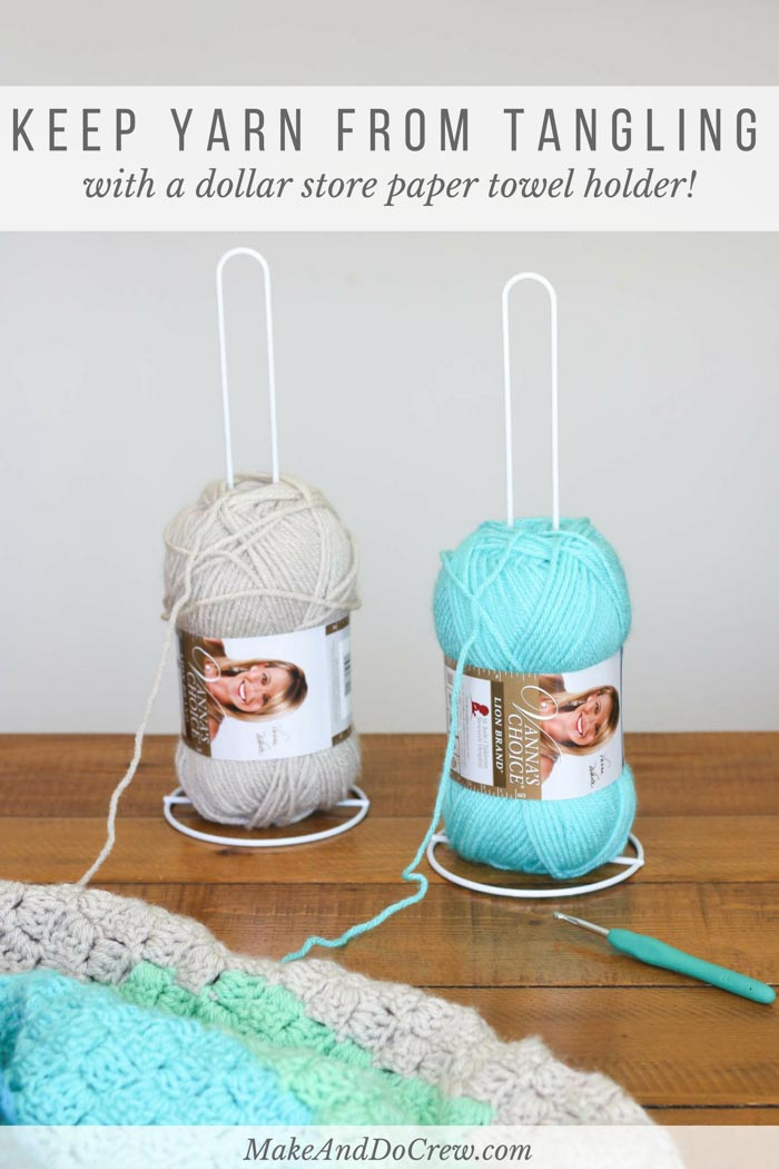 Inexpensive Diy Yarn Holders From Household Items Make Do Crew