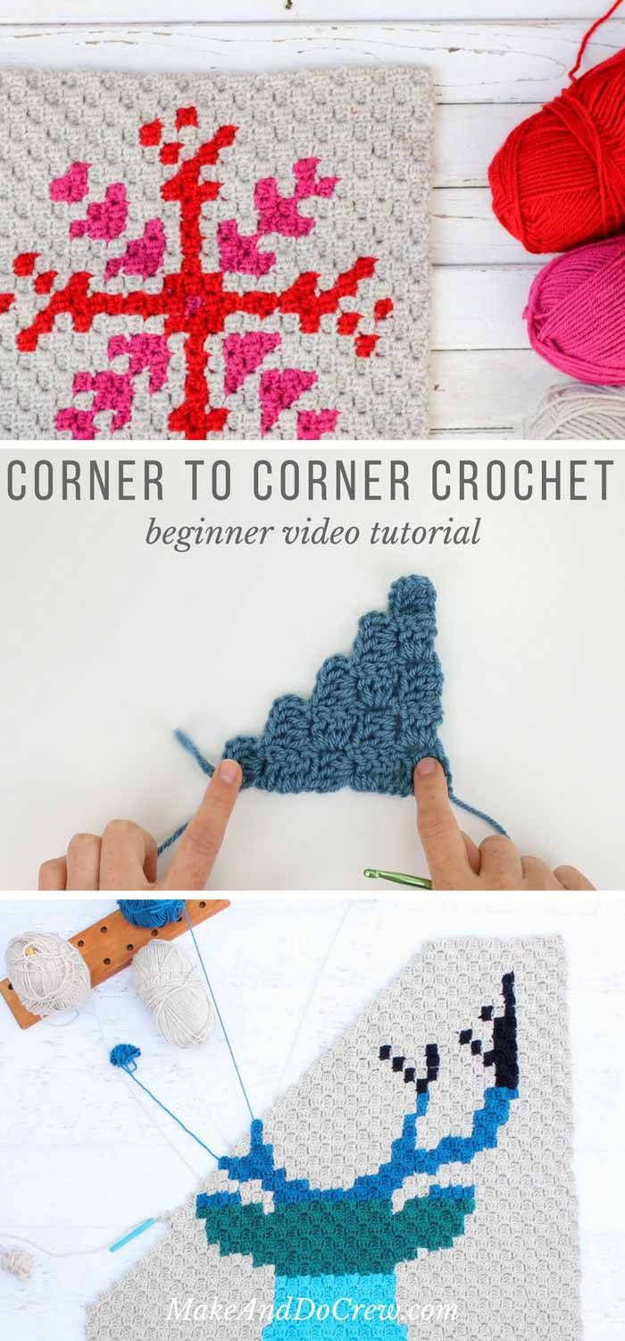In this corner to corner crochet video tutorial, we'll learn the basic corner to corner stitch including how to increase in c2c and how to decrease in c2c. This introduction is perfect for beginners!