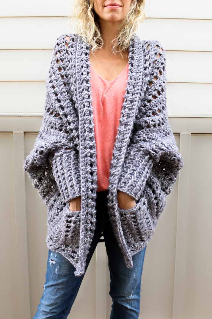 Easy, Chunky Crochet Sweater - Free Pattern from Make & Do Crew