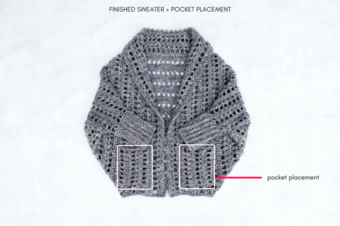 This boyfriend style cardigan is easy to make with the zeros and crosses crochet stitch. Free crochet pattern and tutorial from MakeAndDoCrew.com.