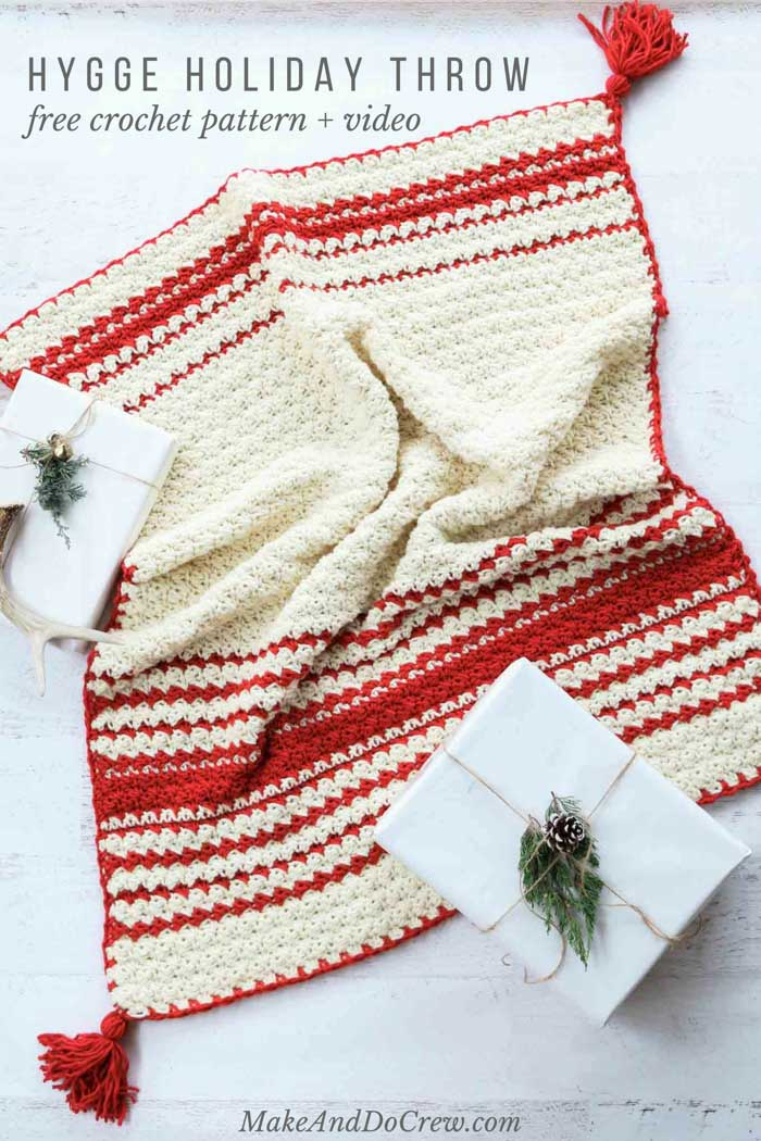 CHRISTMAS Merry Afghan//Crochet Pattern INSTRUCTIONS ONLY