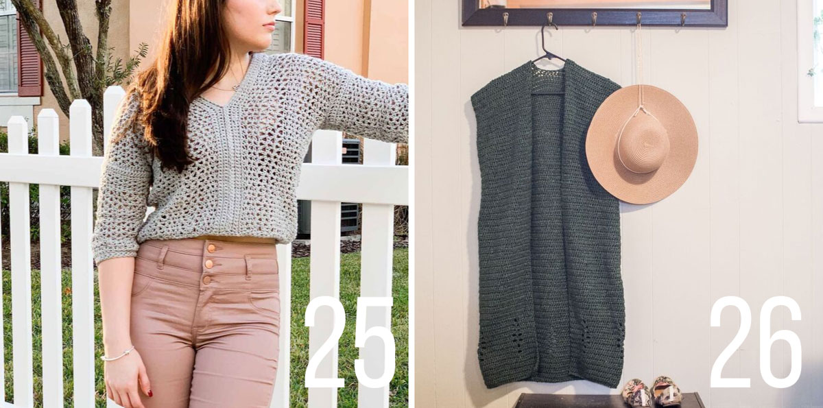 Free crochet sweater patterns with tutorials.