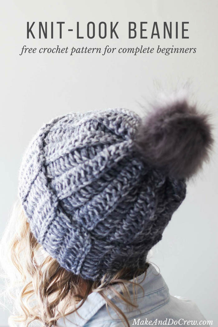 Learn how to make a crochet hat in this free beginner ribbed beanie pattern  and tutorial aa5547dc155