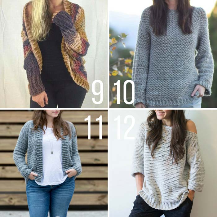Beginner and more experienced crocheters will all find something to love in this compilation of free crochet sweater patterns. Each of these cardigan, pullover or shrug patterns requires very little shaping so you can confidently tackle your first (or tenth!) garment.