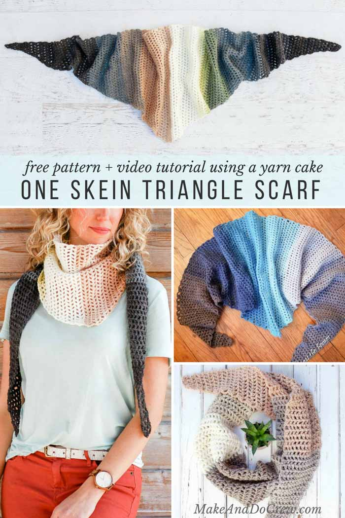 In this step-by-step crochet triangle scarf video tutorial, learn how to make the