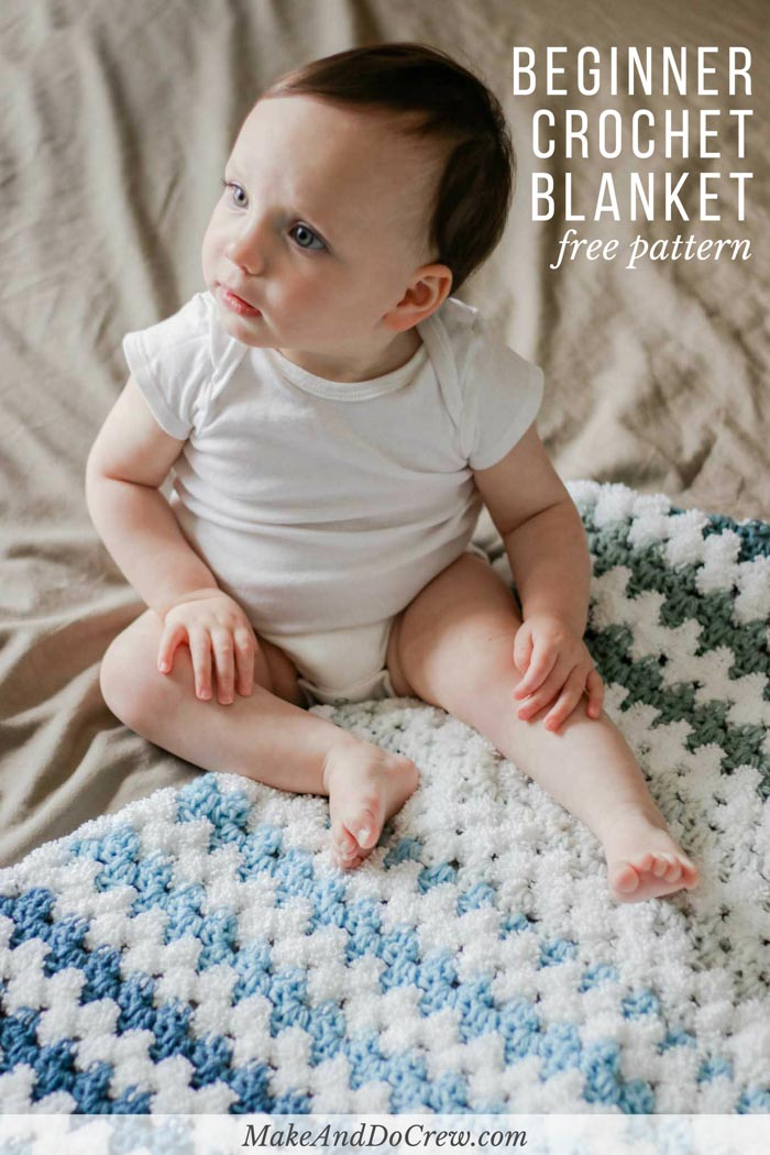 Tributary Free Beginner Crochet Baby Blanket Pattern Make Do Crew