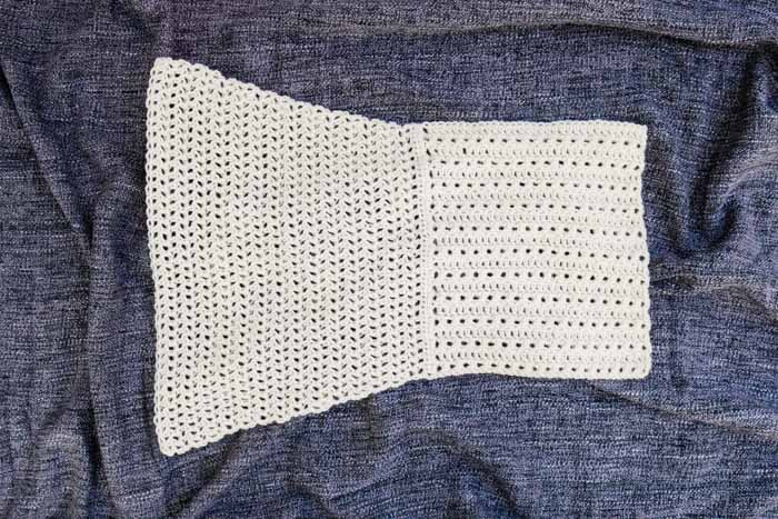 Finished sleeve from the Alchemy cardigan crochet along, free pattern and video tutorial.