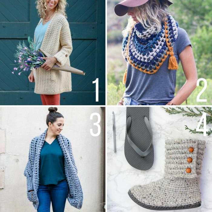 Free crochet patterns featuring Lion Brand Yarn. This crochet sweater, scarf and boot patterns all include video tutorials.