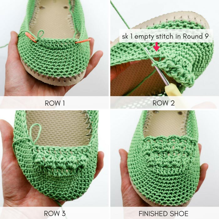 Learn how to crochet shoes with this easy free crochet pattern and tutorial. Because of their flip flop soles, these DIY kicks work well equally well as house slippers or outdoor shoes. Free pattern and photo tutorial featuring Lion Brand 24/7 Cotton.