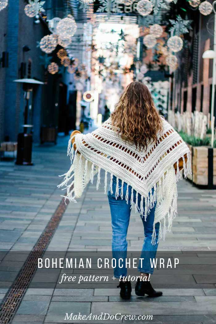 This fringed boho chunky crochet scarf pattern + tutorial is fast, easy and perfect for fall.