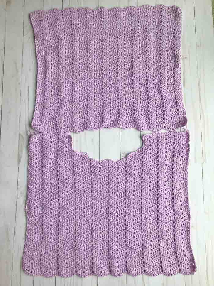 Free pattern for a crochet summer top.
