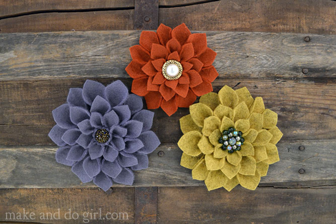 Tutorial Diy Felt Flowers Makeanddogirl Com