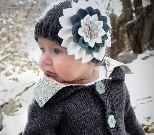 Felt Flower Tutorial + Baby Hat = Extreme Cuteness