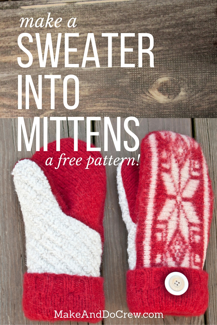 photograph relating to Free Printable Fleece Sock Pattern known as Visitor Guideline: Felted Sweater Mittens (with printable behavior!)