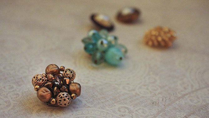 Unmined Thrift Store Finds: Vintage Clip-On Earrings