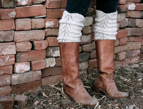 Make these super easy DIY legwarmers/boot toppers from the sleeves of an old sweater. Such a fast, adorable DIY gift idea with minimal sewing required. Click to see full tutorial. | MakeAndDoCrew.com