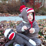 DIY knit sock monkey costume tutorial | MakeAndDoCrew.com