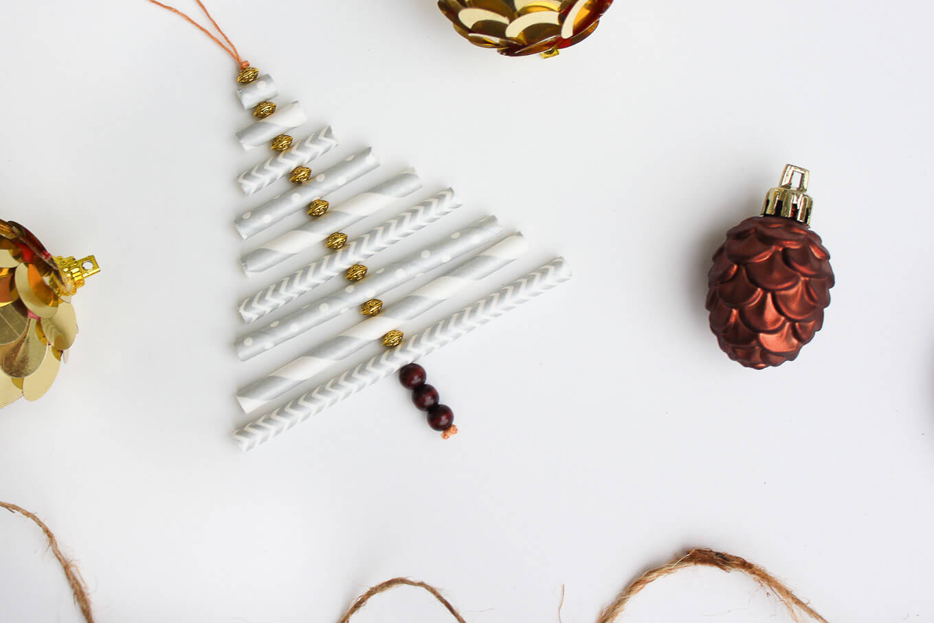 Diy Christmas Ornament Tutorial Using Paper Straws