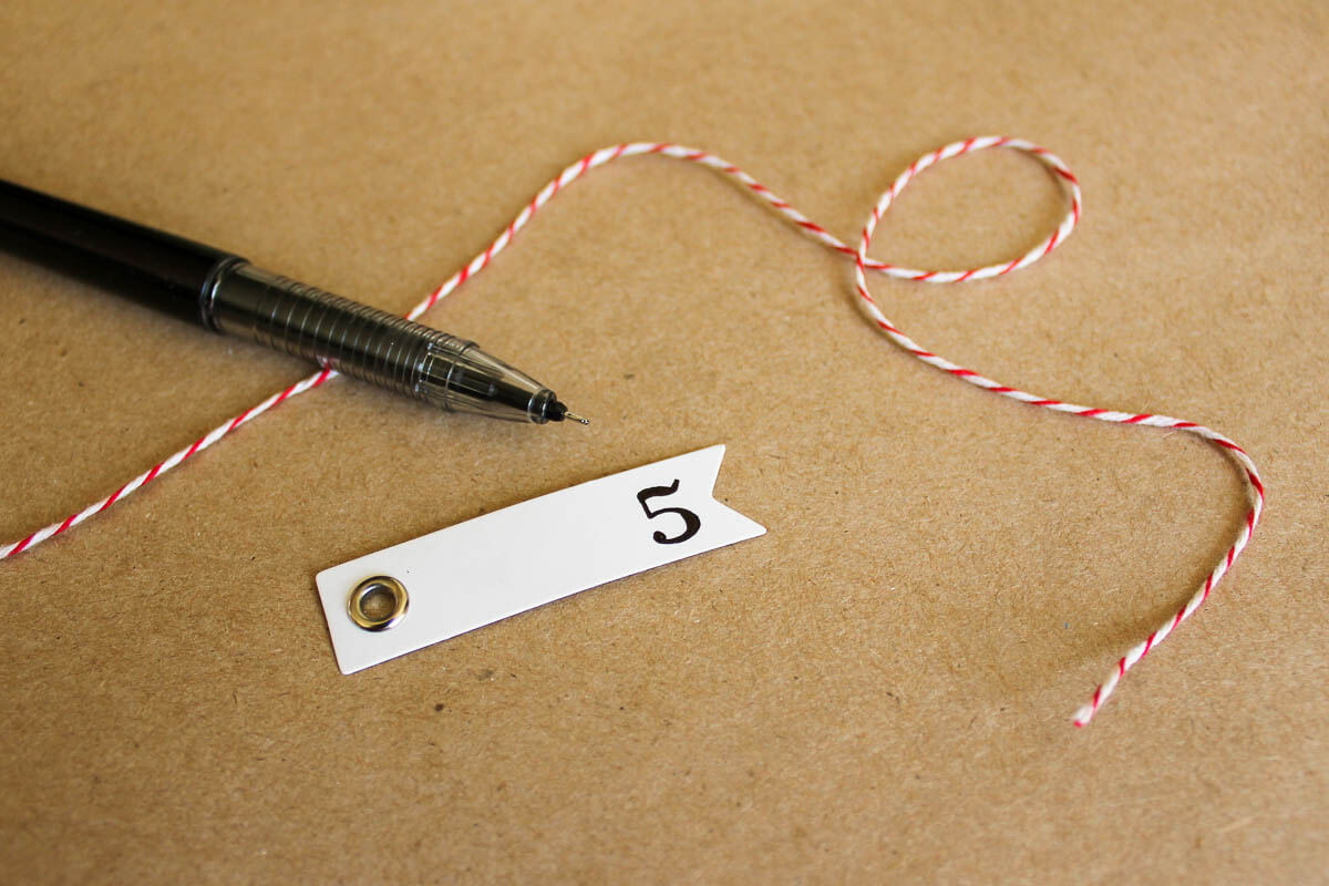 DIY Pottery Barn Knockoff Advent Calendar. Step-by-step tutorial with lots of details!   MakeAndDoCrew.com