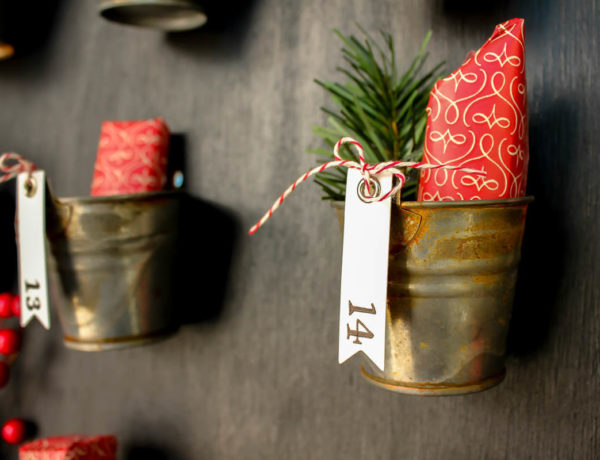 DIY Pottery Barn Knockoff Advent Calendar. Step-by-step tutorial with lots of details! | MakeAndDoCrew.com