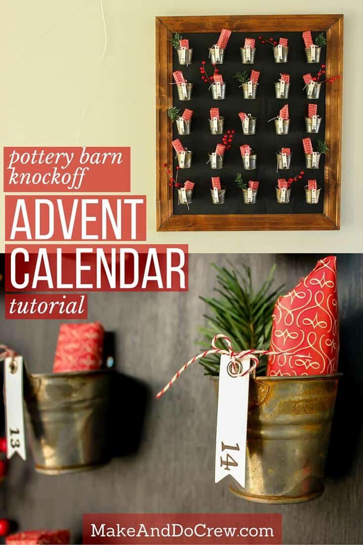 Superb Pottery Barn Knockoff Diy Advent Calendar Tutorial Download Free Architecture Designs Scobabritishbridgeorg