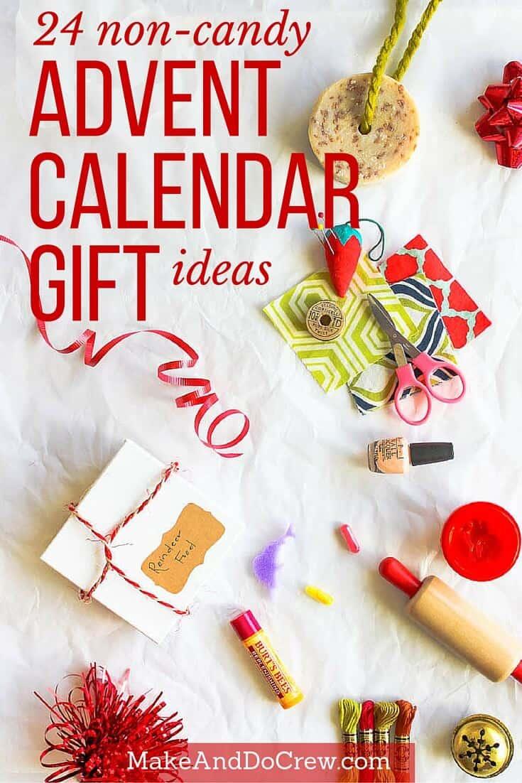 non candy advent calendar gift ideas make do crew