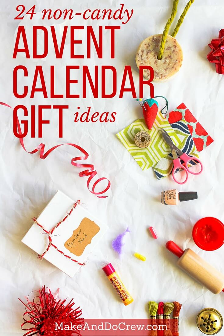 Easy, inexpensive Christmas advent calendar gift ideas that AREN'T candy! | MakeAndDoCrew.com