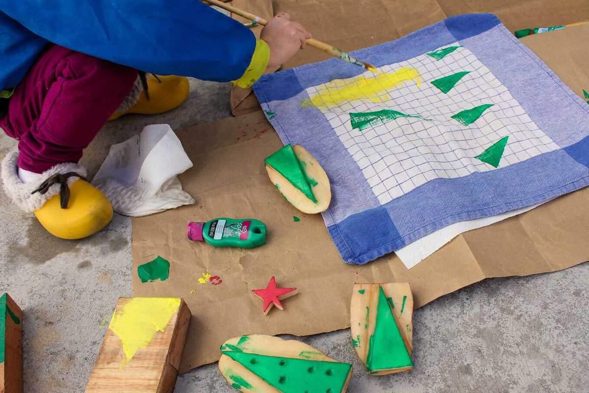 DIY-Christmas-gift-idea-tea-towels-11 - Make & Do Crew
