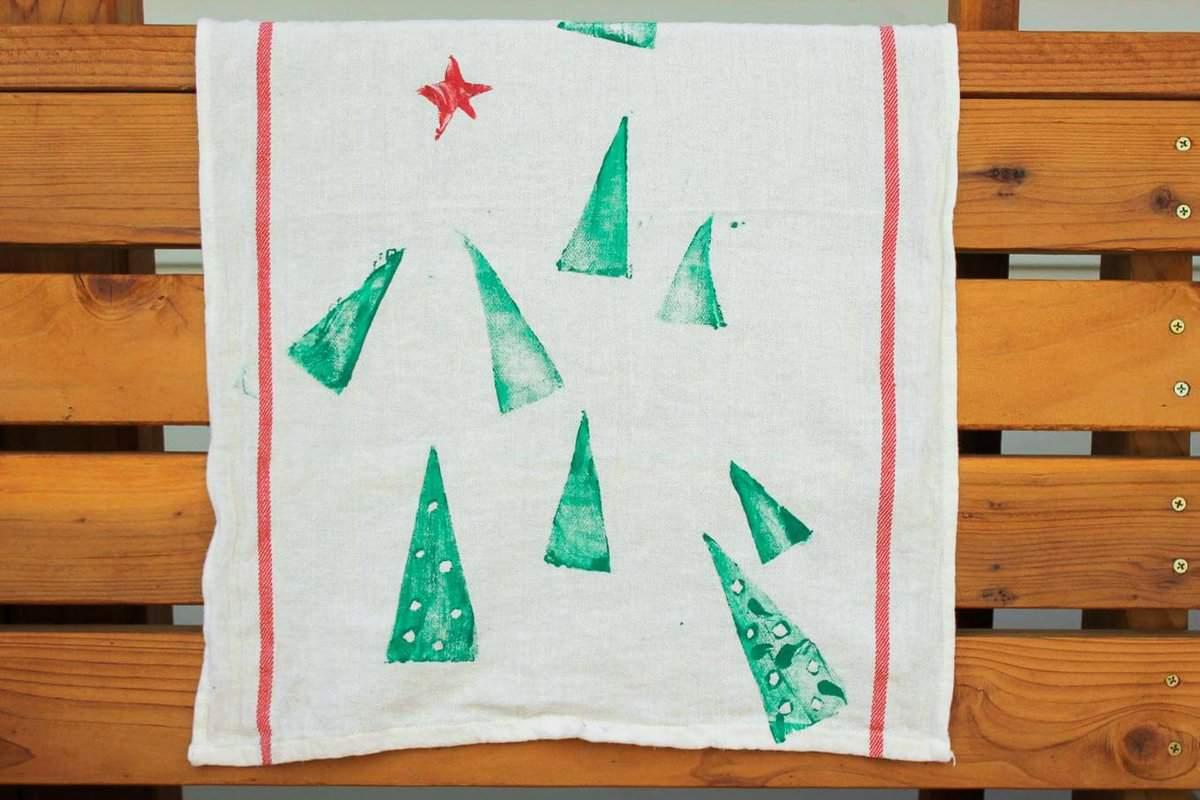 DIY-Christmas-gift-idea-tea-towels-15 - Make & Do Crew