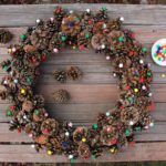 DIY Pinecone Wreath Tutorial (With Pom Poms!)