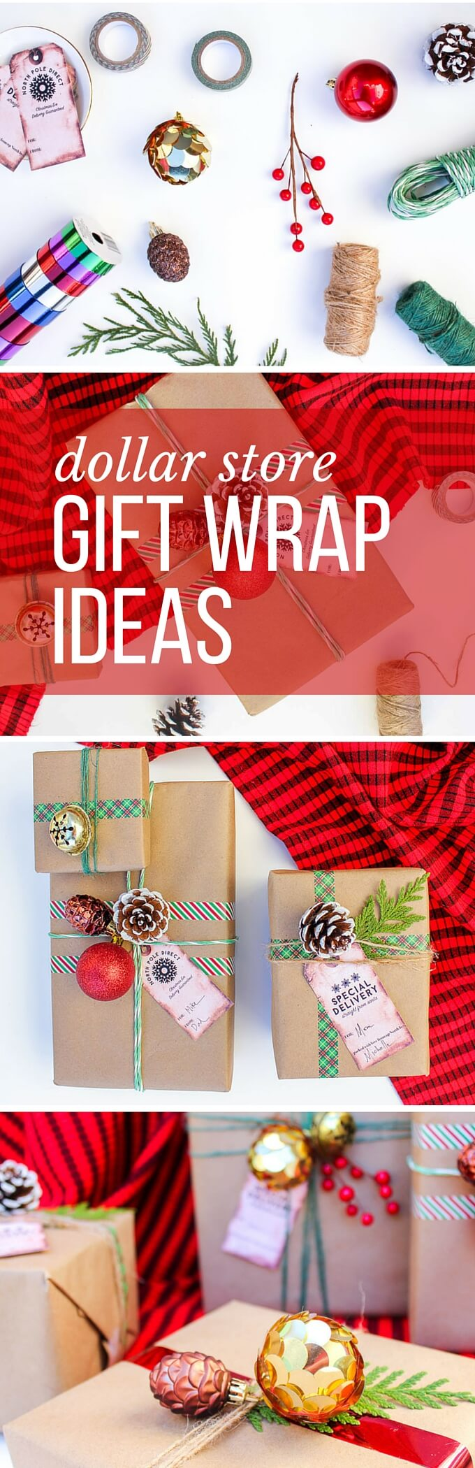 dollar store christmas gifts easy dollar christmas gift wrap ideas free gift tags 10796