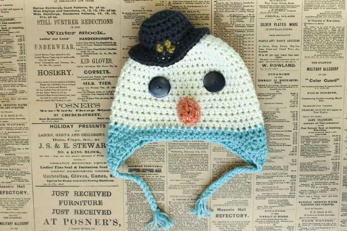 Free-Crochet-Hat-Pattern-Snowman-23 - Make & Do Crew